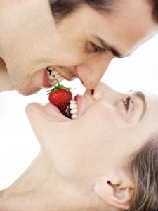 """Serve her strawberries with your mouth"""