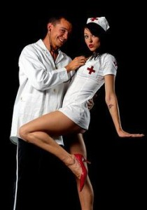 """Let her be the naughty nurse"""